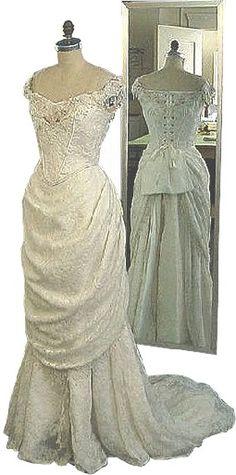 Edwardian wedding gown