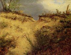 Sandweg (Carl Blechen) Carl Blechen, Ferdinand, Country Roads, Painting, Art, Art Background, Painting Art, Kunst, Paintings