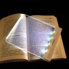 Hot Dormitory LED Flat Reading Light At Night Reading Acrylic Resin Eye Reading Light Portable Desk Reading Lamp House Doctor, Plywood Furniture, Mini Reading, Deco Led, Portable Desk, Book Lamp, Light Panel, Light Eyes, Bedside Table Lamps