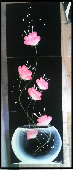 cuadros minimalistas abstractos decorativos modernos étnicos Tole Painting, Fabric Painting, Painting & Drawing, Deco Floral, Painting Inspiration, Diy Art, Flower Art, Canvas Wall Art, Watercolor Art