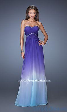 LOVE IIIIIIIIIIIIIIIIIIIT<3 <3 <3 Long Strapless Sweetheart Ombre Gown at SimplyDresses.com