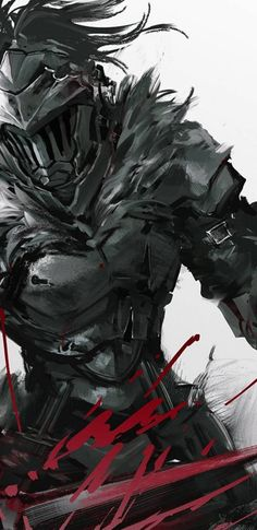 Goblin Slayer Anime Fabric Wall Scroll: Home & Kitchen Fanarts Anime, Anime Characters, Manga Anime, Anime Art, Dark Fantasy Art, Anime Fantasy, Dark Souls, Goblin Slayer Meme, Samurai Art
