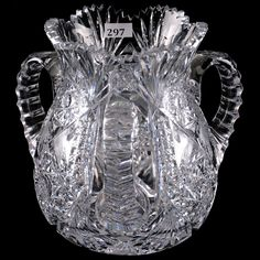 American Brilliant Period Cut Glass Loving Cup - X Cut Glass, Clear Crystal, Period, Fancy, China, Future, Crystals, American, Antiques