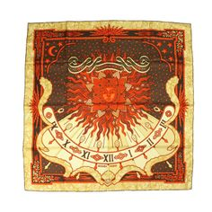 Hermes Silk Scarf: Gloria Soli (Carpe Diem) | From a collection of rare vintage scarves at http://www.1stdibs.com/fashion/accessories/scarves/