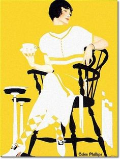 Coles Philips - Coles Phillips - Community Plate Ad-2 1924 Painting
