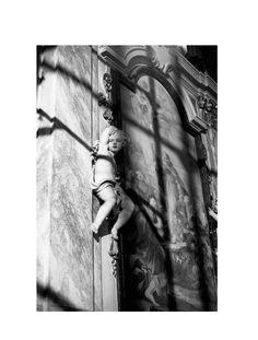 Angel in Florence gelatin silver print selenium toned photograph di SilverprintArte su Etsy