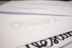 "Logo for my new company ""vesture.pl"" #branding #caligraphy #lettering #design"