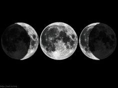 Maiden, Mother, Crone seen in phases of the moon