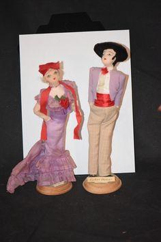Vintage Doll Dolls Cloth Fancy Cuban Dancer Unusual