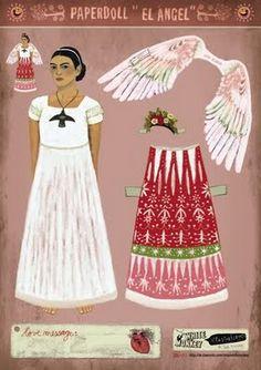 WOWWWW el arte vintage Pop mexican esta super El Ángel.