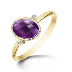 Oblique Amethyst Ring