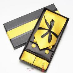 Pánská kravata žlutá