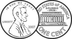 COINS clipart This mathematics ClipArt gallery includes 7 illustrations of the United States currency known as the penny or one cent piece. Abraham Lincoln, Consumer Math, Clipart Gallery, Kindergarten Social Studies, Third Grade Math, Second Grade, Penny Coin, Clipart Black And White, Too Cool For School