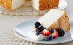 Angel Food Cake Recipe by Anna Olson : Food Network UK