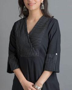 Neckline designs for kurta Overlapped style– You can either Salwar Neck Designs, Neck Designs For Suits, Churidar Designs, Kurta Neck Design, Neckline Designs, Kurta Designs Women, Designs For Dresses, Dress Neck Designs, Blouse Designs