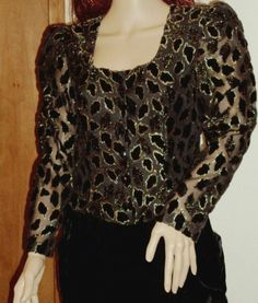 Retro Black Velour Holiday Dress Gold Lame Velvet Disco Taurus Nites 1970 Size 8 #TaurusNites #Sheath #Cocktail
