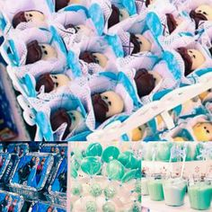 """Docinhos personalizados para festa com tema """"Frozen""""."""