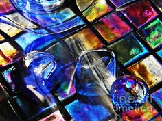 Glass Abstract 257 Photograph by Sarah Loft