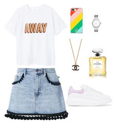 """""""Untitled #21"""" by karolinahaj on Polyvore featuring MANGO, Marc Jacobs, Alexander McQueen, Fifth & Ninth, Tory Burch and Chanel"""