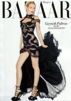Gwyneth Paltrow in Alexander McQueen by Terry Richardson for Harper's Bazaar Australia May 2012