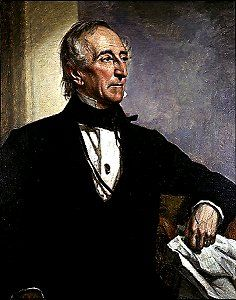 Tyler, John tenth president of the United States and the first vice president to become president upon the death of the chief executive. Presidents Wives, American Presidents, American History, President Quotes, Vice President, Official Presidential Portraits, William Henry Harrison, John Tyler, Presidential History