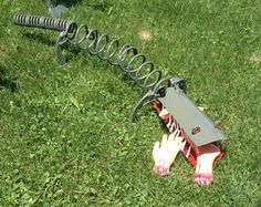 Lawn Gator Metal Yard Art Sculpture Made From Upcycled Repurposed Metal - Pick up or delivery available