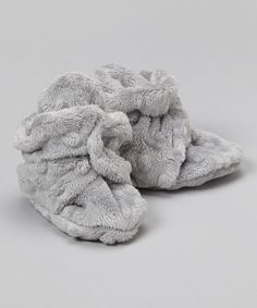 Look what I found on #zulily! Gray Minky Booties by Bebe Bella Designs #zulilyfinds