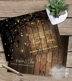 The Green Loft: Save the Date, Candle Light and Fireflies