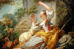 Jean-Honoré Fragonard - The Shepherdess (18th Century France)