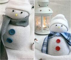 DIY Schneemann Socken // DIY Snowman Socks