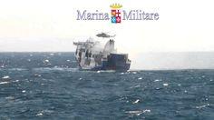 Norman Atlantic Video - Traghetto alla Deriva - Elicotteri Marina