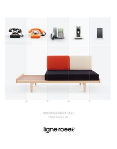 In an effort to showcase the timelessness of French furniture manufacturer Ligne Roset, Les Gaulois created a print campaign that retraces the 60 years of creations from designer Pierre Paulin - Ligne Roset: Modern since 1953