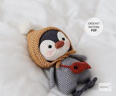 Diy Crochet Toys, Crochet Toys Patterns, Crochet Animals, Amigurumi Patterns, Stuffed Toys Patterns, Easy Crochet, Crocheted Toys, Amigurumi Toys, Crochet Clothes