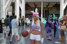 We wish the rest of the Toon Squad had been there, but seeing a basketball legend like Space Jam's Lola Bunny was still pretty epic.