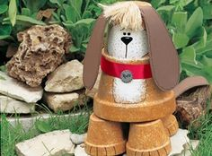 Craft of the Day - Flowerpot Watchdog  Available Wednesday, July 18