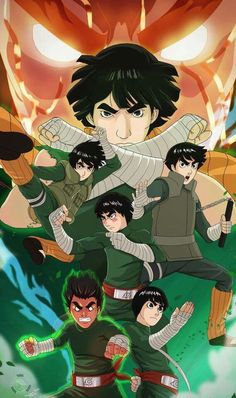 A commission for a friend who loves Rock Lee. Wish Rock Lee could have gotten his fight with Neji, that would have been epic. Manga Anime, Anime Guys, Anime Art, Naruto Uzumaki, Gaara, Wallpapers Naruto, Animes Wallpapers, Wallpaper Naruto Shippuden, Naruto Wallpaper
