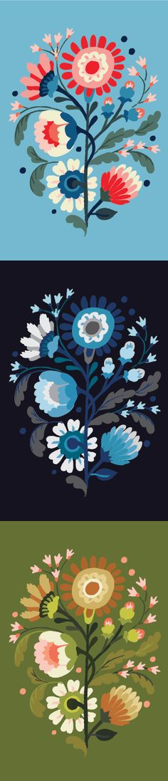 Floral Exploration By Jill De Haan Pattern Illustration, Graphic Illustration, Arte Popular, Floral Illustrations, Grafik Design, Pattern Art, Textures Patterns, Flower Art, Stencil