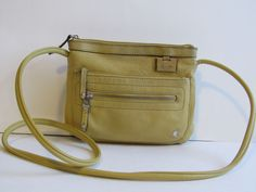 Tignanello Cross Body Bag Organizer Small size Leather Light Mustard GRU #Tignanello #MessengerCrossBody
