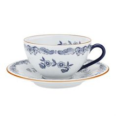 Ostindia tea cup from Swedish Rörstrand is a classic cup with plate. Ostindia has withstood the test of time and changes in taste and remains one of Rörstrand��s best selling designs. Timeless Scandinavian design for every home.