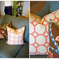 Great How To on Arranging Throw Pillows {Pillows} - Tip Junkie