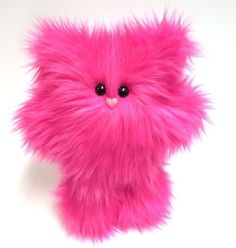 Plush Monster Hot Pink Petunia Cute Stuffed by mintconspiracy