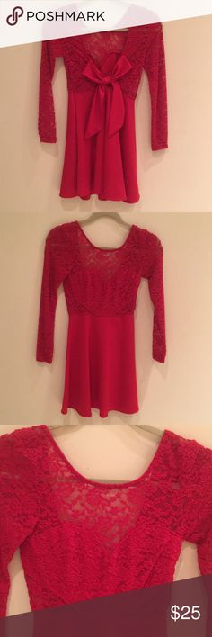 Little red dress Purchased this online from Mura boutique Australia! Worn once. The perfect dress, fits a XS-S (6 in Aussie) Dresses Mini