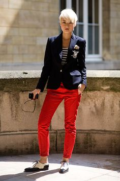 Preppy outfit with two tone brogues
