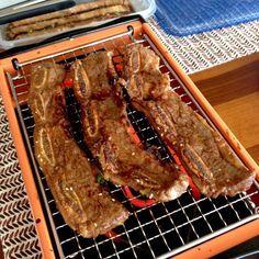Korean Marinated BBQd Short Ribs by kitchenbowl #Short_Ribs #Korean