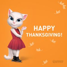 Happy Thanksgiving my dear #LittleKitties! I'm so grateful for you all, you're the best!!! xo, Talking Angela #TalkingAngela #MyTalkingAngela #TalkingFriends #Thanksgiving #grateful #Friendsgiving