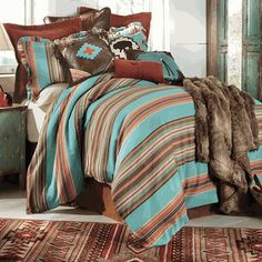 Save - on all Western Bedding and Comforter Sets at Lone Star Western Decor. Your source for discount pricing on cowboy bed sets and rustic comforters. Teen Bedding Sets, Bedding Sets Online, King Bedding Sets, Queen Bedding, Comforter Sets, Queen Beds, King Comforter, Bedding Master Bedroom, Bedroom Sets