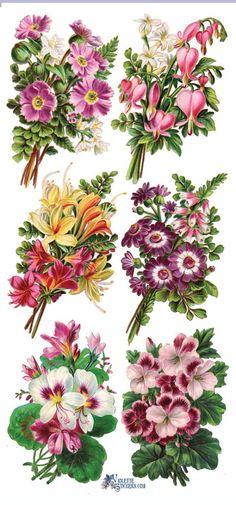 Наклейки-может цветы-декупаж-коллаж-смешанной технике-скрапбукинг-четкие наклейки-2 листа-Виолетта стикеры-наклейки Цветочный букет