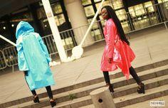 #DVORA #photoshoot #lookbook #fashiondesign #fashionforward #architechturalclothinging #blackfashion #twins #baidsgang #paris #raincoat #rainwear