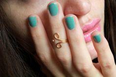 Swirl midi ring/pinky little finger ring. 24k Gold plated