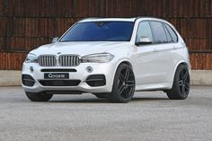 G-Power launches their tuning program for BMW F15 X5 M50d. The tri-turbo diesel X5 has 455 HP